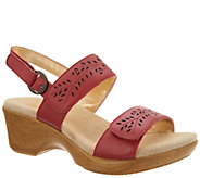 Alegria Leather Adjustable Double Strap Sandals - Romi - A308048