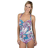 Simply Sole Paisley Love Twist Bra Halter Swim Top - A327248