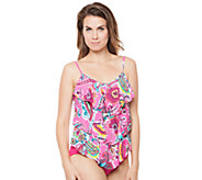 Simply Sole Bermuda Paisley 3 Tier Tankini Top - A332448