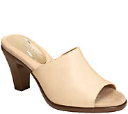 Aerosoles Heel Rest Leather Slide Sandals - Brilliance - A332748