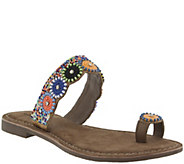 Azura by Spring Step Leather Embellished Sandals - Glint - A357448