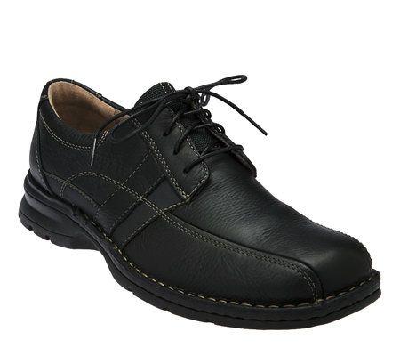 clarks s espace leather lace up shoes qvc