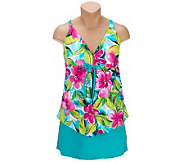 Ocean Dream Signature Hawaiian Breeze Flyaway Tankini with Skirtini - A222949
