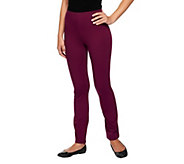Susan Graver Weekend Stretch Cotton Leggings - Petite - A225549