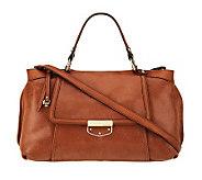 B. Makowsky Leather Zip Top Convertible Satchel - A226649