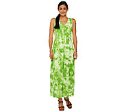 Linea by Louis DellOlio V-Neck Print Maxi Dress Regular Fit - A233849