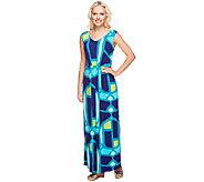 Isaac Mizrahi Live! Regular Mosaic Print Maxi Dress - A253149