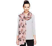 Joan Rivers Floral Elegance Sequin Scarf - A254749
