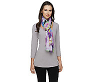Joan Rivers Painted Wildflowers Scarf - A255449