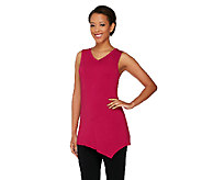LOGO Layers by Lori Goldstein Tank with Angled Hem - A257549