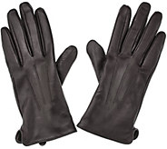 Glove.ly Leather Gloves w/ Touchscreen Functionality with Gift Box - A270949