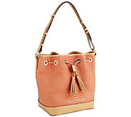 As Is Dooney & Bourke Claremont Python Drawstring Bag - A271449