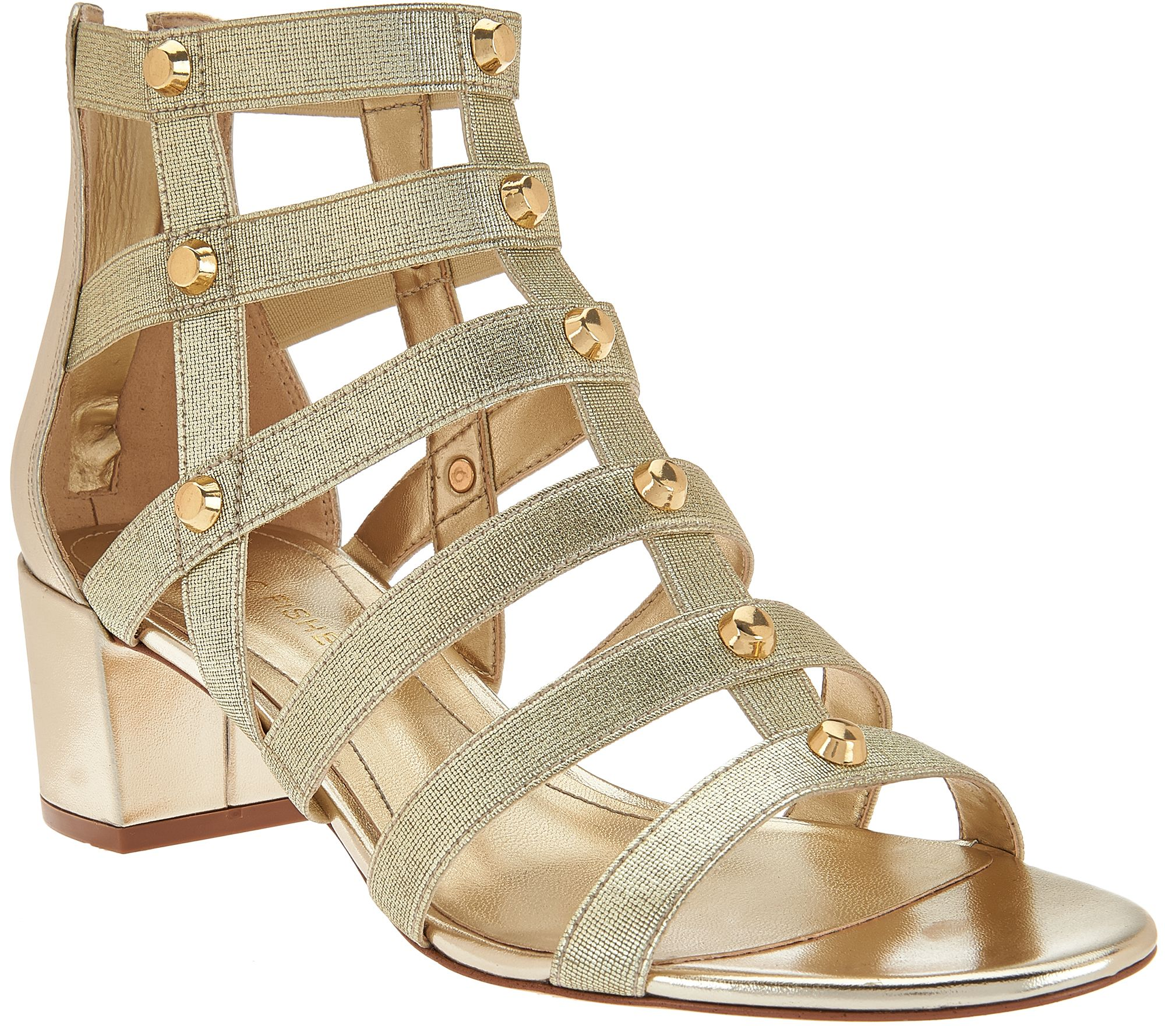 Marc Fisher Gladiator Block Heel Sandals - Julee - Page 1 — QVC.com