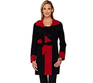 As Is Susan Graver Weekend Bonded Polar Fleece Wrap Jacket - A277449