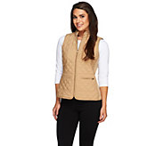 As Is Joan Rivers Quilted Zip Front Vest with Pockets - A277849