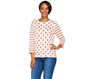 Isaac Mizrahi Live! Polka Dot and Stripe Printed Cardigan - A278049