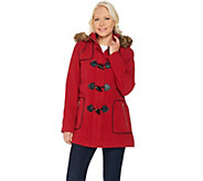 C. Wonder Faux Wool Zip Front Coat with Toggle Detail - A281449