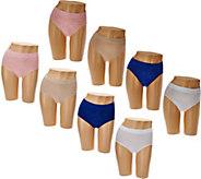 Breezies Set of 4 Seamless Floral Jacquard Panties - A282549