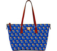 Dooney & Bourke NCAA University of Kansas Zip Top Shopper - A283249