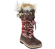 MUK LUKS Allie Lace-Up Knit Snow Boots with Thinsulate - A284149