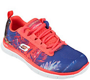 As Is Skechers Print Skech Knit Lace Up Sneakers - Trade Winds - A284649