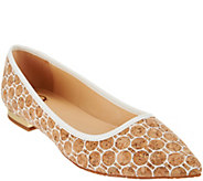 As Is C. Wonder Printed Cork Flats with Heel Hardware - Lilly - A285249