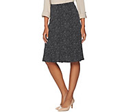 Susan Graver Printed Liquid Knit Skirt with Godets - A286749