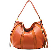 As Is Aimee Kestenberg Pebble Leather & Suede Hobo - Tuscany - A288949