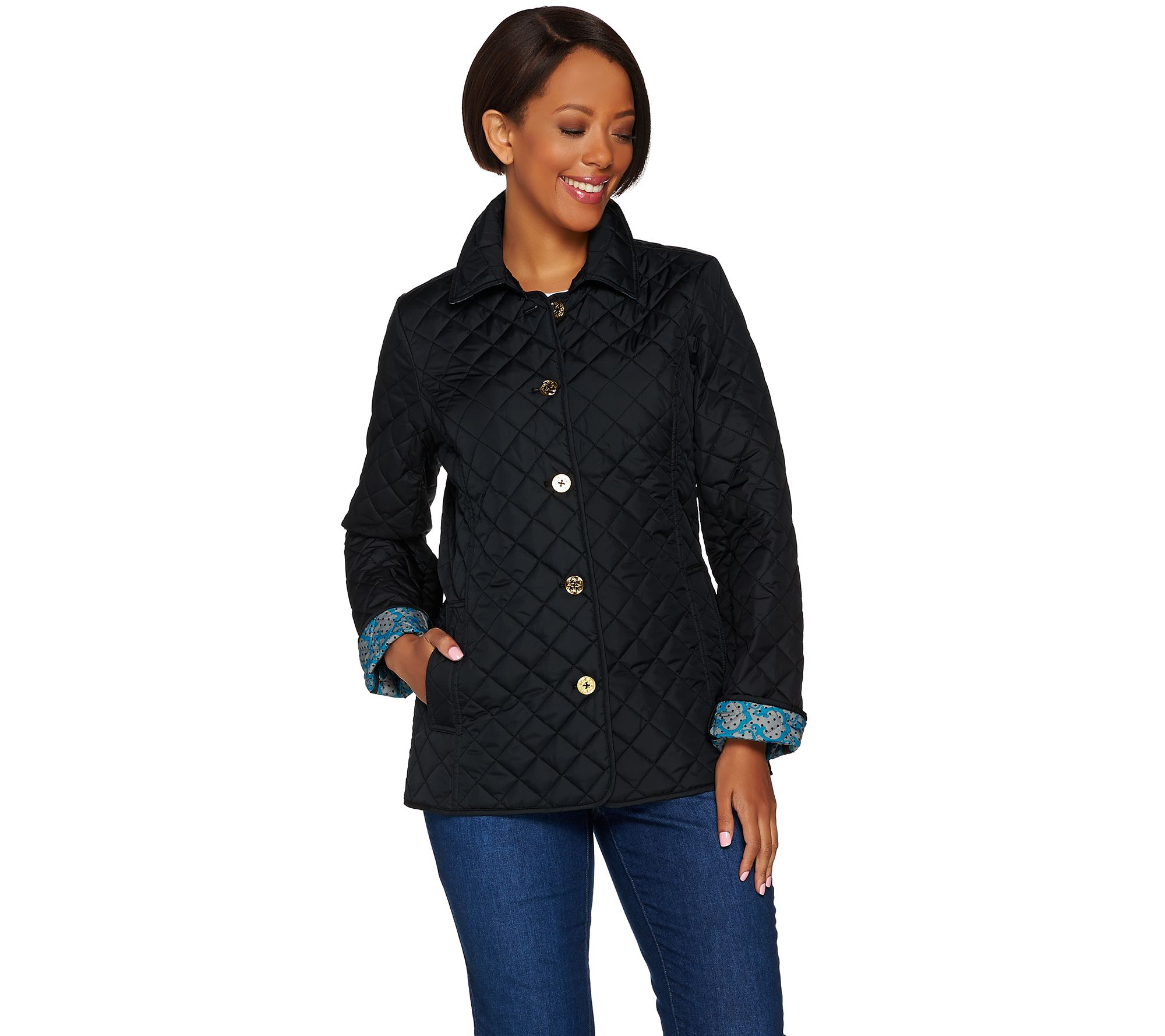 As Is C Wonder Water Resistant Quilted Barn Jacket Page 1