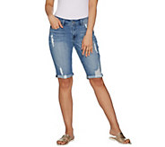 Hot in Hollywood Classic Denim Boyfriend Shorts - A290649