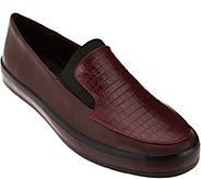 As Is H by Halston Croco Embosed Slip-On Loafer - Ryleigh - A290849