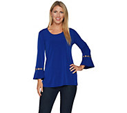 Susan Graver Liquid Knit Tunic with Grommets - A294849
