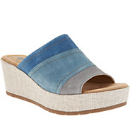 Earth Origins Suede Wedge Slip On Sandals - Myra - A304649
