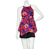 As Is Contour by Beach Scene Hi Neck Tankini Swimsuit with Short - A306149