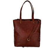 American Leather Co. Glove Leather Convertible Shopper - A307849