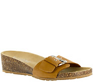 Tuscany by Easy Street Leather & Cork Wedge Sandals - Amico - A339049