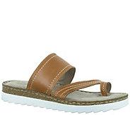 Bella Vita Leather Slide Sandal with Toe Loop -Tivoli - A339149