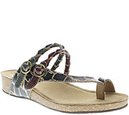 Spring Step LArtiste Leather Slide Sandals - Snall - A339649