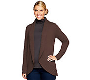 Isaac Mizrahi Live! 2-Ply Cashmere Shawl Collar Cocoon Cardigan - A225550