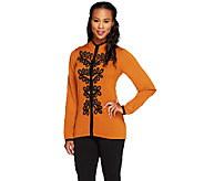 Bob Mackies Soutache Embroidered Cardigan - A236150