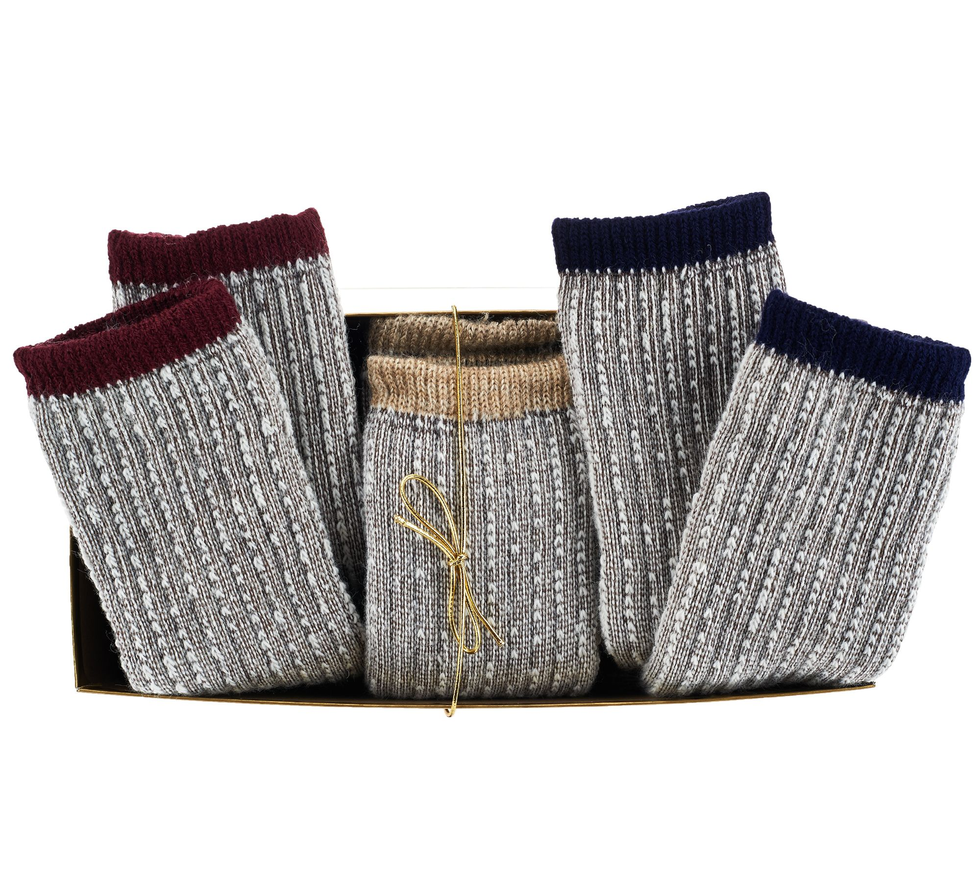 Catawba Set of 3 Merino Wool Blend Socks w/ Gift Box