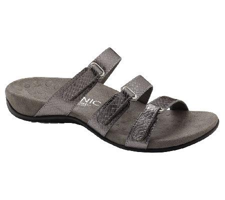 47531a1225e9 Vionic w  Orthaheel Aubrey Orthotic Triple Strap Adj. Sandals — on ...