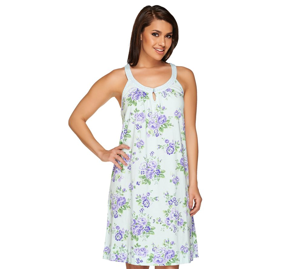 Carole Hochman Sleeveless Printed Chemise Nightgown