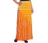 Susan Graver Liquid Knit Pull-on Striped Maxi Skirt - A252250