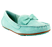 Isaac Mizrahi Live! Suede Moccasins with Bow Detail - A253350