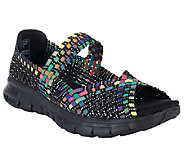 As IsSkechers Synergy Sunday Stroll Woven Open Toe Mary Janes - A261350