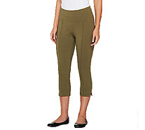 Denim & Co. Active Duo-Stretch Capri w/ Pintucks - A263650