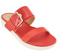 Isaac Mizrahi Live! Two Strap Sandals with Buckle Detail - A264250