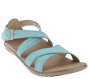 Spenco Orthotic Leather Criss-cross Strap Sandals - Andi - A264750
