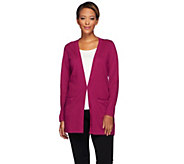 Joan Rivers Cashmere Blend Boyfriend Cardigan - A270950